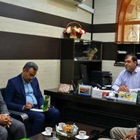 نشست رئیس پست بانک شعبه مرکزی استان بوشهر با جانشین منطقه ویژه اقتصادی بوشهر